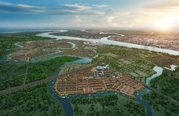 Aqua City với quy mô hơn 600 ha được phát triển theo mô hình sinh thái thông minh với tiện ích nội khu hoàn chỉnh như trường học, bệnh viện, trung tâm thương mại, bến du thuyền...