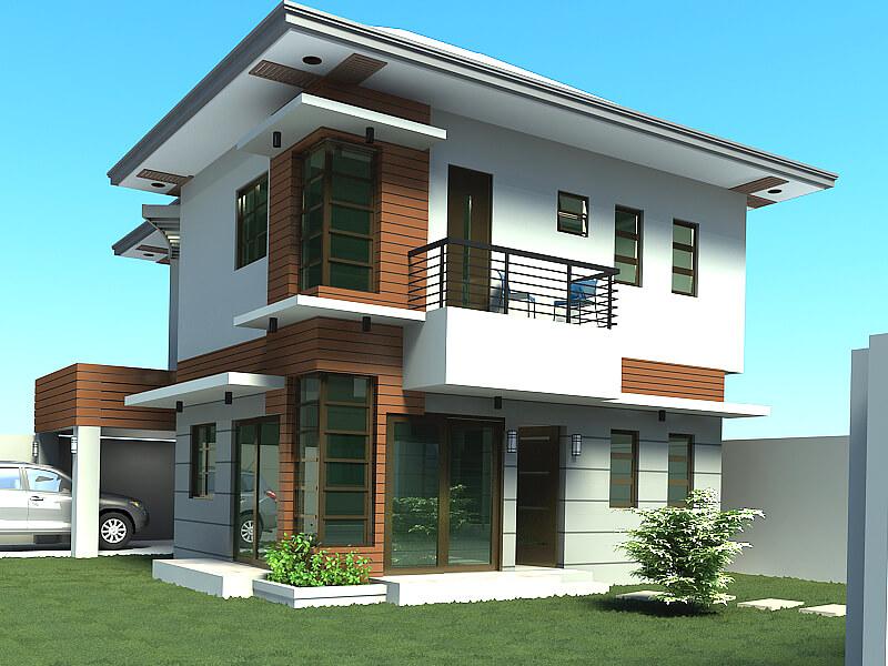 cái nhà 2 tầng nông thôn đơn giản, tiến bộ
