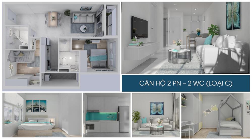 Nhà mẫu dự án căn hộ chung cư Charm City Dĩ An Bình