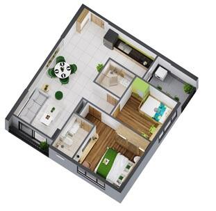 Đa dạng hóa diện tích căn hộ tại dự án nhà ở Picity High Park
