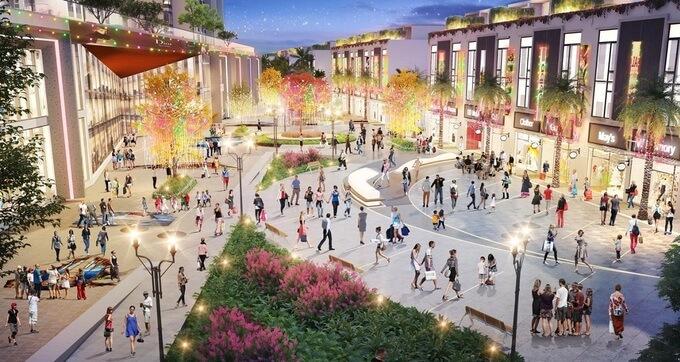 Dưới chân của toà tháp đôi này, chủ đầu tư sẽ triển khai phố đi bộ Korea Belt, lấy cảm hứng từ những con phố thương mại nổi tiếng của Hàn Quốc như phố Myeongdong, Hongdae, Garosu-Gil, Itaewon. Tuyến phố được hợp thành bởi hai tầng thương mại rộng hơn 10.000 m2 của Sky Oasis và chuỗi shophouse dài 2,5km, rộng từ 22-45m.Theo đại diện chủ đầu tư, phố mua sắm - ẩm thực - giải trí này lấy ý tưởng từ mô hình shopping in the park - mua sắm trong công viên để phù hợp với quy hoạch đô thị xanh của Ecopark. Chủ đầu tư cho biết đây cũng là phố mua sắm, ẩm thực trong công viên đầu tiên tại khu vực phía Đông Hà Nội. Với kỳ vọng phục vụ phần đông cư dân Ecopark và đón hàng triệu lượt khách tham quan mỗi năm, tuyến phố chia thành nhiều phân khu: ẩm thực, mua sắm, giải trí, vui chơi dành cho trẻ, phố bích họa.
