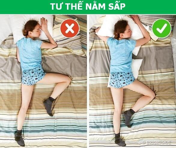 Tư thế ngủ cũng ảnh hưởng đến sức khỏe của bạn