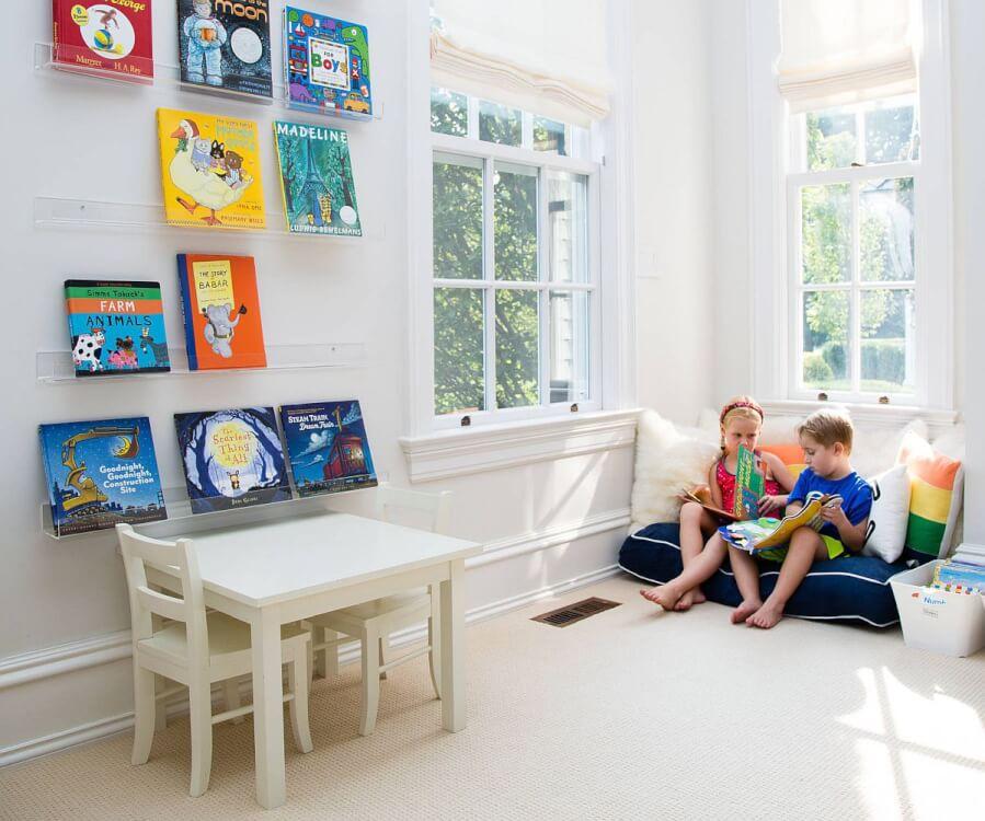 Hình ảnh cận cảnh phòng chơi cho trẻ ngập tràn ánh sáng tự nhiên