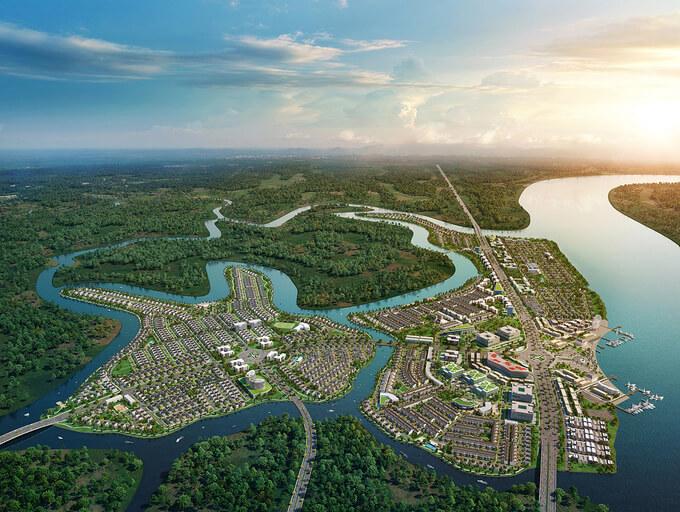 Khu đô thị sinh thái thông minh Aqua City với quy mô hơn 600 ha nằm ở phía Đông TP HCM. Dự án được bao bọc bởi hệ thống sông lớn, dành hơn 70% diện tích cho mảng xanh, hạ tầng giao thông và tiện ích đẳng cấp.