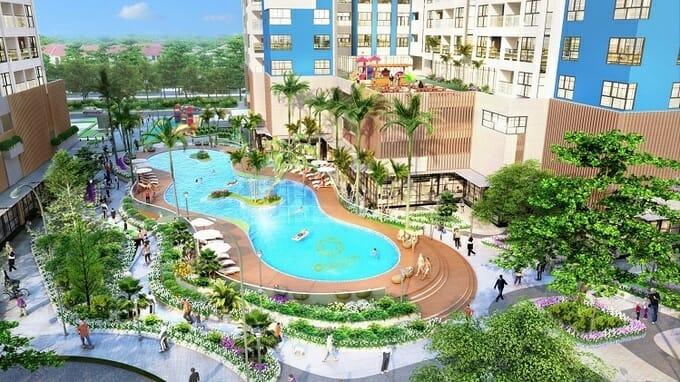 Charm City sở hữu tổ hợp hồ bơi đa tầng rộng tới 2.000 m2.
