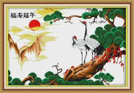 Tranh tù nhânng hạc diên niên lấy ít nhiều ý nghĩa trong Feng Shui