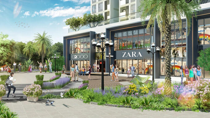 Tuy nhiên, khác với những con phố đi bộ hiện hữu tại Việt Nam, phố đi bộ Ecopark được phát triển theo mô hình mới lạ shopping in the park - mua sắm trong công viên. Toàn tuyến phố này được phát triển như một dải công viên với các tổ hợp cây xanh cảnh quan, vườn hoa,phù hợp với đặc trưng xanh của Ecopark.