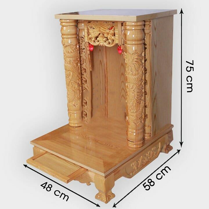 Kích thước bàn thờ Thần Tài, Thổ Địa chuẩn phong thủy