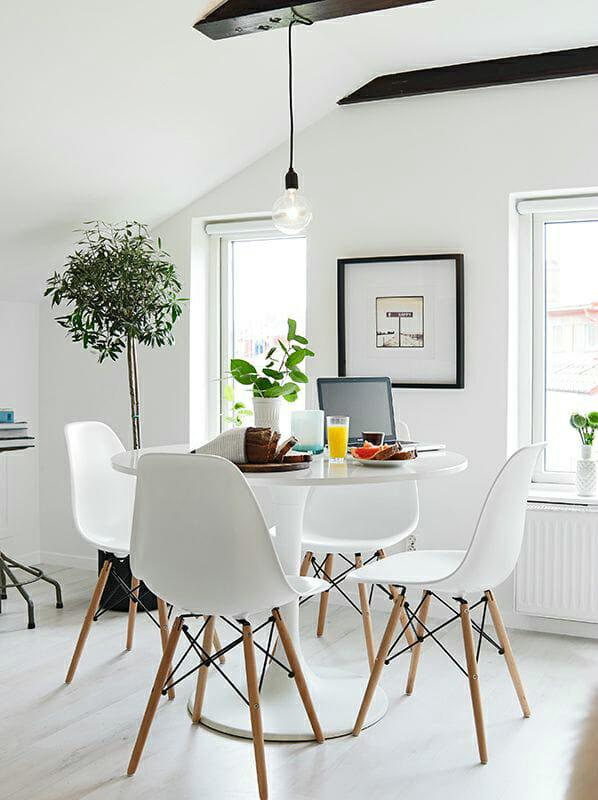 hình ảnh phòng ăn nhỏ phong cách Scandinavian