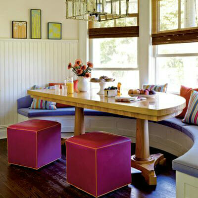 hình ảnh mẫu bàn ăn thông minh có thể mở rộng khi nhà có khách.