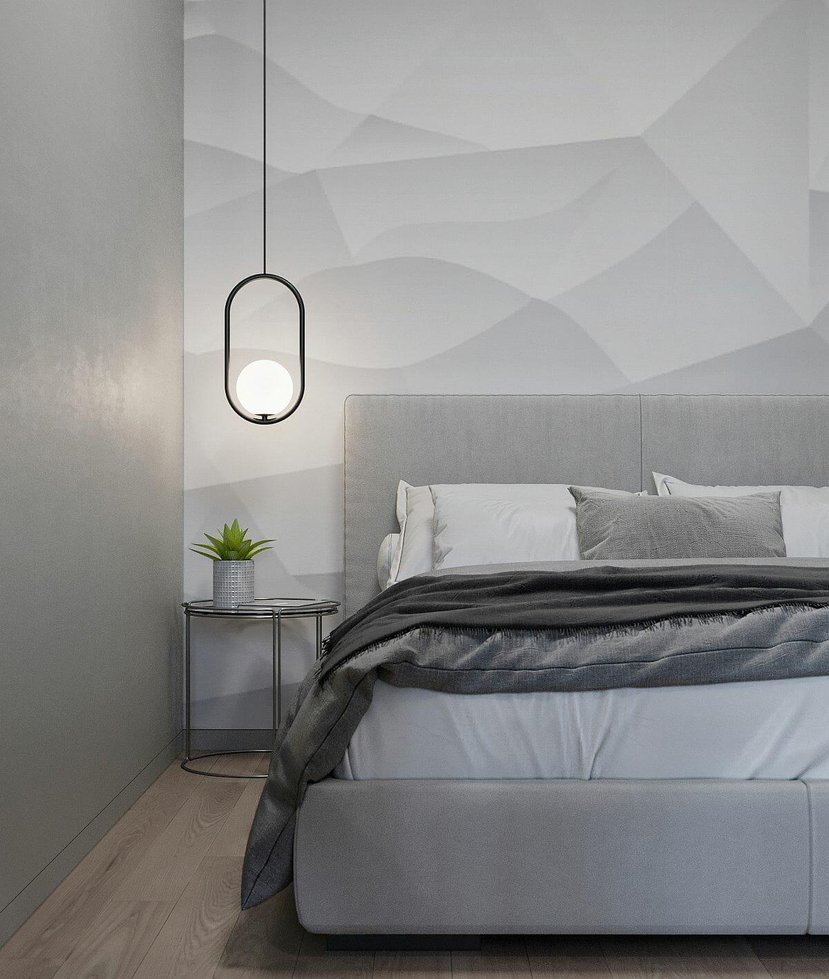 hình ảnh phòng ngủ nhỏ tông màu xám chủ đạo