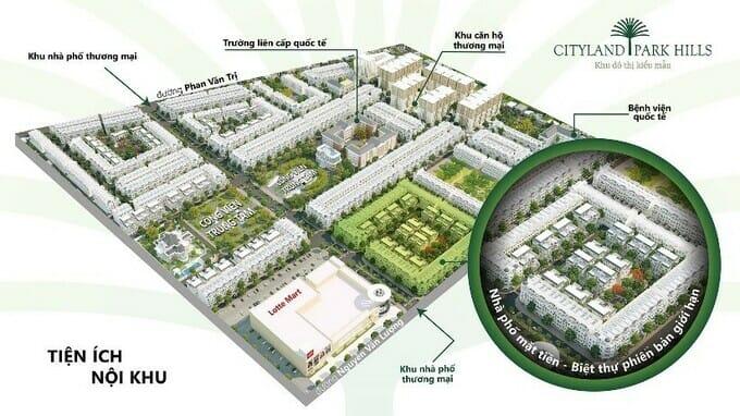 Tại khu đô thị CityLand Park Hills, cư dân được thụ hưởng những tiện ích nội khu nổi bật kết hợp các dịch vụ thương mại hiện hữu khác trong khu vực