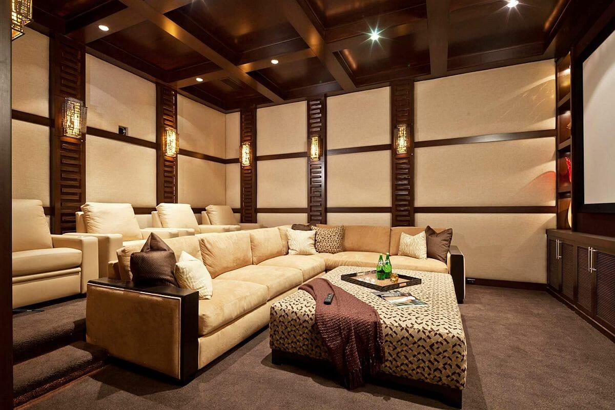 hình ảnh phòng khách màu be kết hợp nội thất gỗ