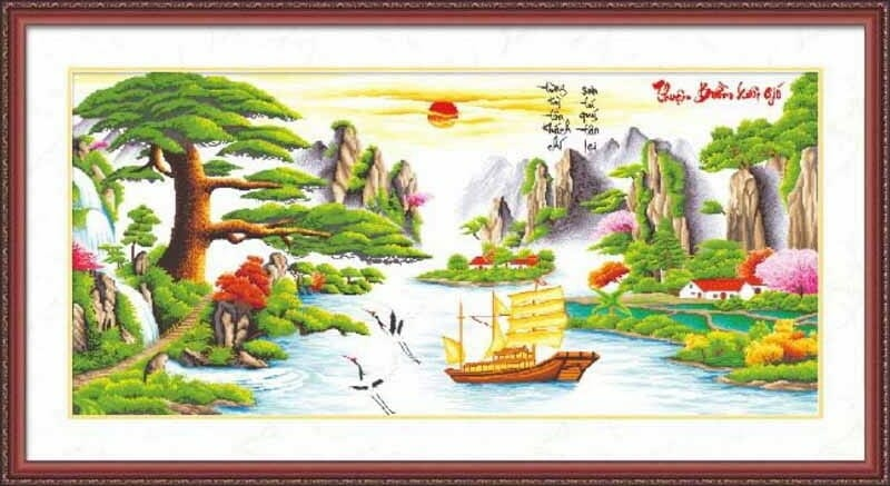 """Tranh """"Thuận buồm xuôi gió"""" theo phong thủy"""