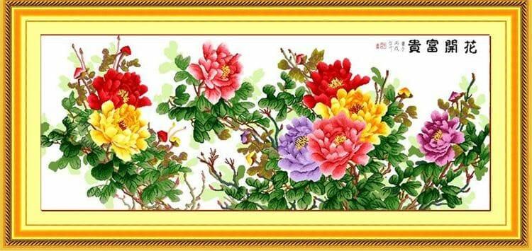Ý nghĩa tranh hoa loại đơn trong Feng Shui