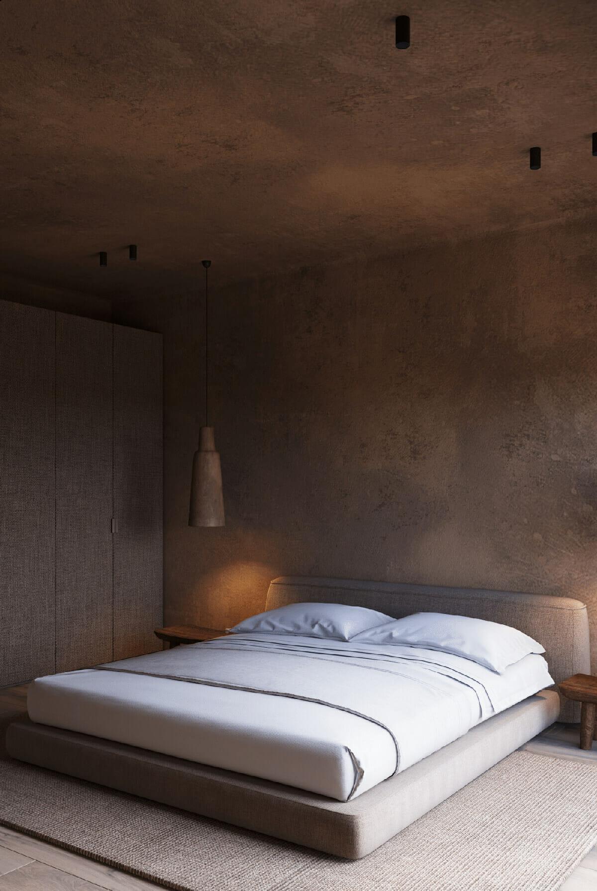 hình ảnh phòng ngủ phong cách Wabi-Sabi