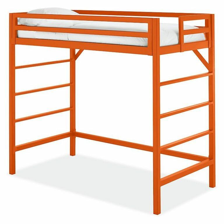 hình ảnh mẫu giường gác xép màu cam