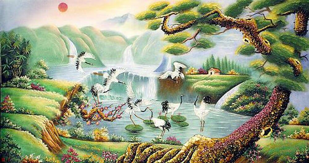7 loại tranh nhật xuất thiên sơn đẹp, ý nghĩa