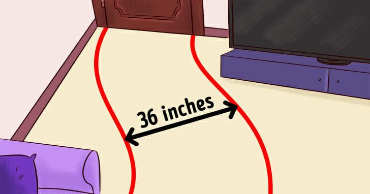 hình ảnh minh họa cho việc đo đạc kích thước cửa, phòng khách trước khi sắm nội thất