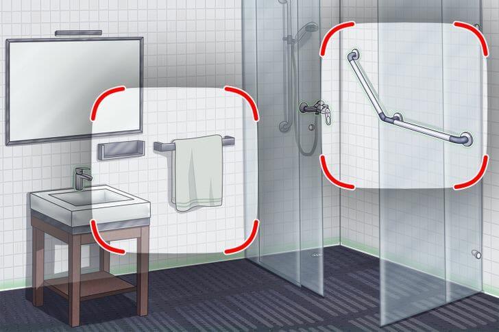 hình ảnh phòng tắm ốp lát gạch màu trắng sạch sẽ