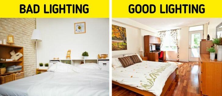 Phòng ngủ với tông màu trắng sáng chủ đạo