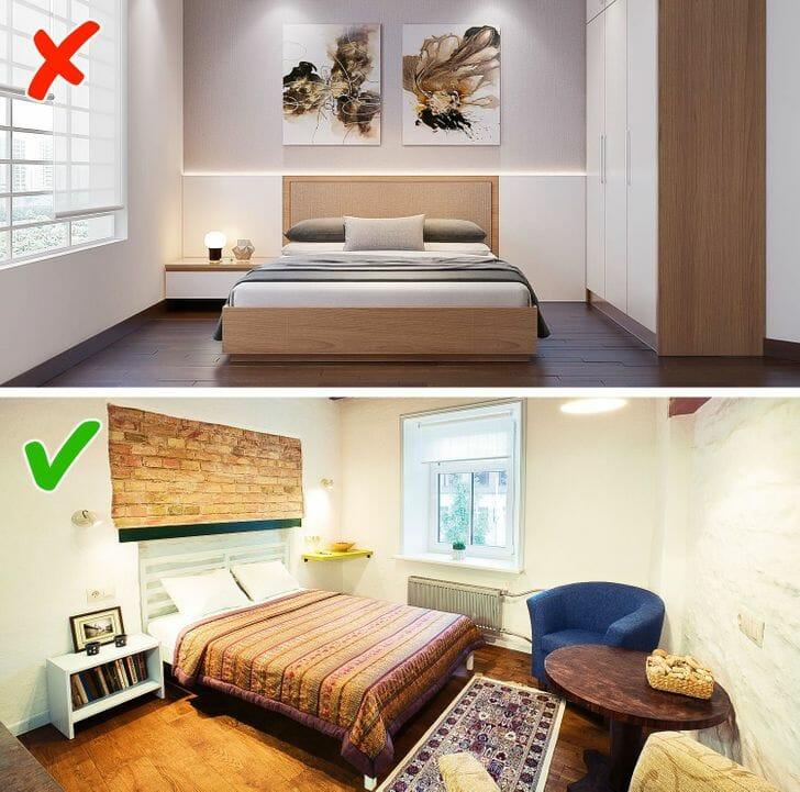 hình ảnh phòn ngủ với thiết kế nội thất đồng bộ và phòng ngủ có nội thất kết hợp từ nhiều phong cách khác nhau